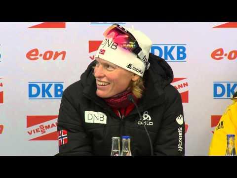Magdalena Neuner, Tora Berger and Kaisa Mäkäräinen