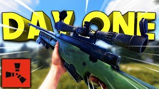 L96 SNIPER ON DAY ONE! - Rust SOLO Series #1