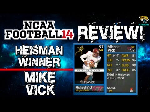 NFUT 14 - Heisman Winner Michael Vick Review! - Best QB in NCAA Football 14 Ultimate Team? - NUT 14