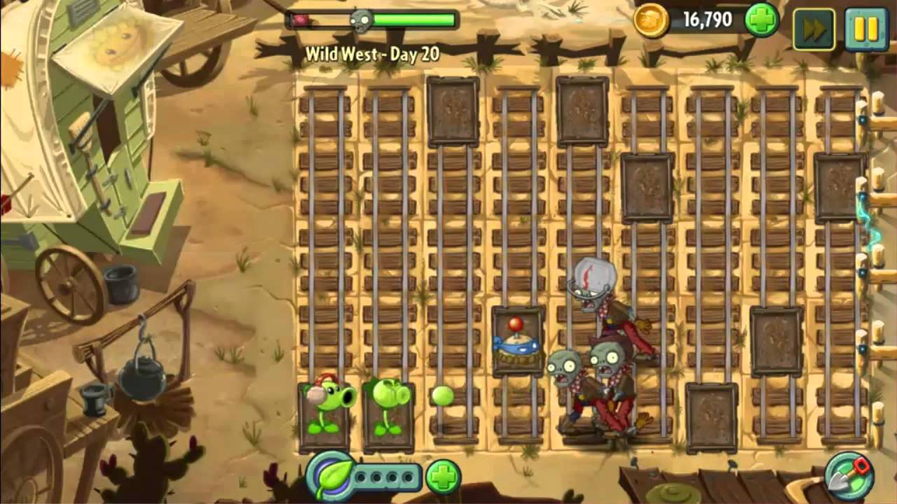 Wild West Day 20 Plants Vs Zombie 2 Walkthrough Youtube