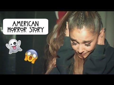 Ariana Grande visita casa embrujada (subtitulado)