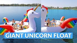 Giant Unicorn Lake Float Fits 6 Adults