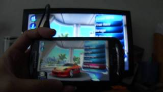 Sony Ericsson Xperia Pro - HDMI demo with Asphalt 6 HD