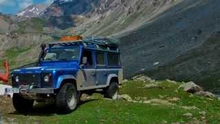 In den Bergen unterwegs mit LandRover Defender und Mercedes G300 HD
