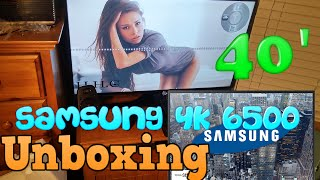 02. Samsung 4K UHD JU6500 Smart TV - 40' Unboxing