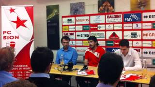 La confrence de presse du FC Sion.