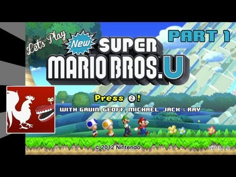 Let's Play - New Super Mario Bros. U Part 1 | Rooster Teeth