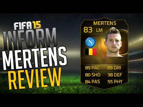 FIFA15: IF DRIES MERTENS REVIEW (83) + INGAME STATS! FIFA 15 INFORM PLAYER REVIEW