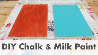DIY Make Your Own Chalk & Milk Paint