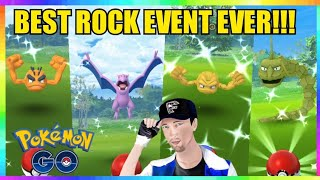 SO MANY SHINIES CAUGHT during BOOSTED SHINY ROCK EVENT in Pokemon Go!