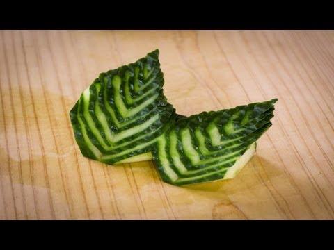 Japanese Cucumber Leaf Decoration Sushi Garnish