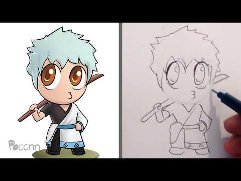 Cómo dibujar a Gintoki Chibi (Gintama)