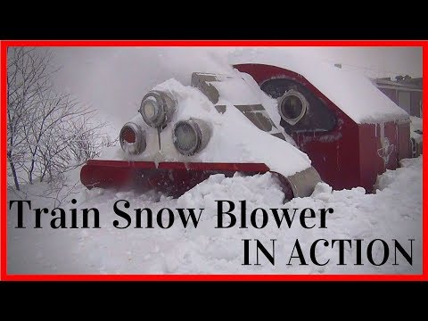 Train Snowblower Gets the Job Done (HD, 1080p)