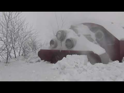Biggest Snowfall vs Train Snowblower (HD, 1080p)