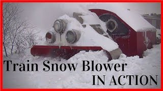 Biggest Snowfall vs Train Snowblower (HD, 1080p) - Snow Train