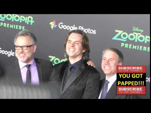 Clark Spencer, Rich Moore And Byron Howard At The Zootopia Premiere At El Capitan Theatre In Hollywo