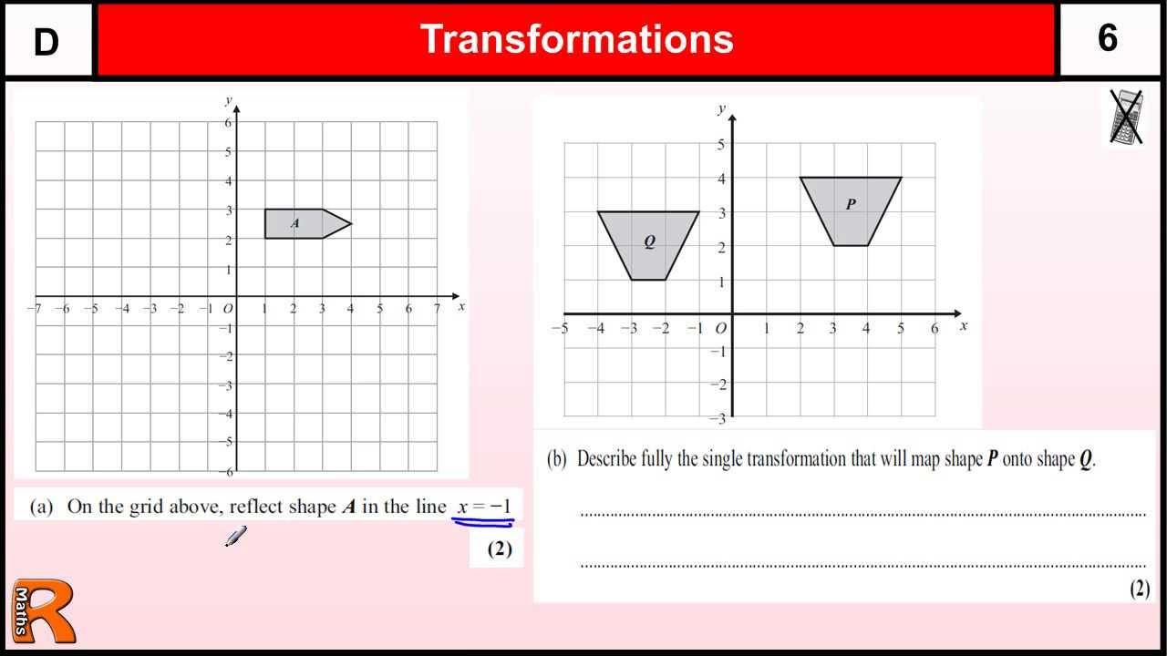 reflection transformation worksheet