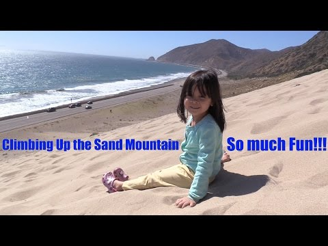 Fun Family Outdoor Activity: Hulyan & Maya's Beach Playtime Fun! The Sand  Mountain!