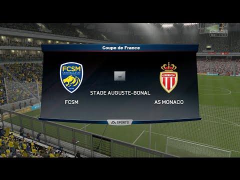 Sochaux-Montbéliard - Monaco [FIFA 16] | Coupe de France 2015-2016 (1/8ème de Finale) | CPU Vs. CPU