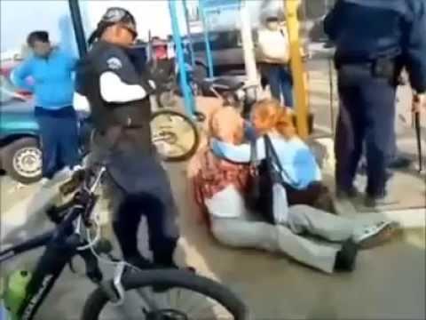 Policias de Tlajomulco agreden a un anciano vendedor ambulante