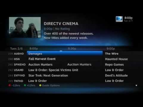 New DirecTV HD UI