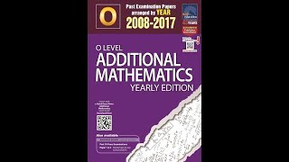 GCE O-Level A-Maths 2017 Paper 1 Question 3 Linear Law