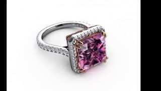 BodyJewels Cubic Zirconia Engagement Ring , CZ 14kt