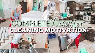 EXTREME CLEANING MOTIVATION|COMPLETE DISASTER CLEAN WITH ME 2019|SPEED CLEANING MY WHOLE HOUSE