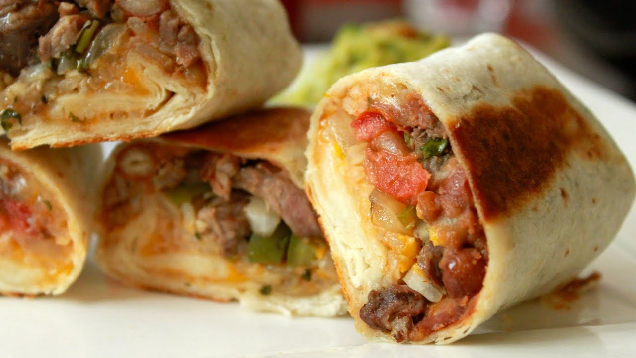 Burrito Harmony Grilled Steak Burritos Guacamole