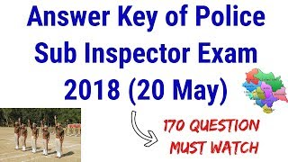 Answer Key of HP Police Sub Inspector Exam 2018 !  20 May ! 170 Questions !