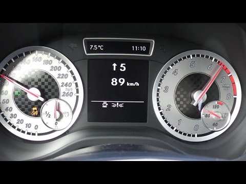 2012 Mercedes A 180 122 HP 0-100 km/h Acceleration