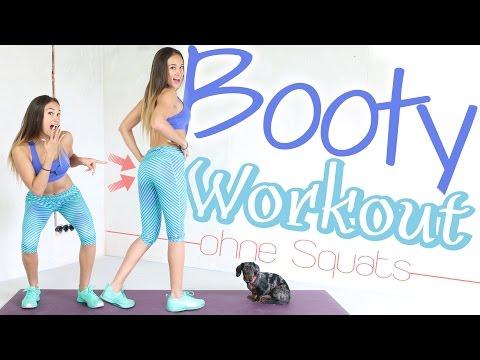 PO WORKOUT für zuhause - ohne Squats - BESTE Booty Übungen - 10 Min - Knackiger Po