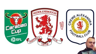 CARABAO CUP 1ST ROUND DRAW ANNOUNCED! MIDDLESBROUGH WILL TAKE ON CREWE ALEXANDRA!