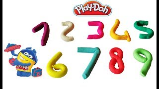 Learn Color and Number with Play Doh Nursery Songs for Kids