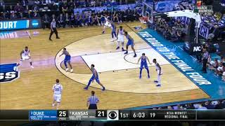 Kansas Attacking Duke's 41 Zone Defense