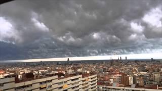 Amazing storm sky in Barcelona
