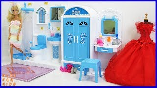 Barbie Bedroom 💕 Bathroom Shower Morning Routine 🎈