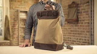The Steamer Backpack   Waxed Canvas & Leather Backpack
