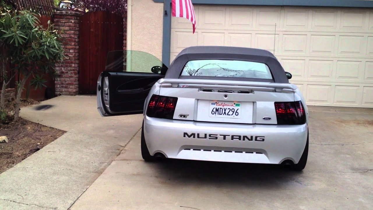 2002 mustang gt smoked tail lights youtube. Black Bedroom Furniture Sets. Home Design Ideas