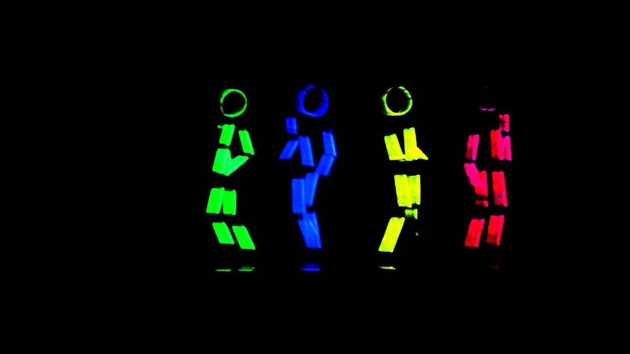 Glow Sticks Dance Glow Stick Figure Dance