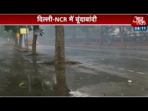Light showers lowers temperature in Delhi, NCR