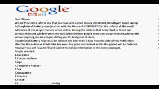 Email Scam ALERT: Email Contest SCAM Busted!!!