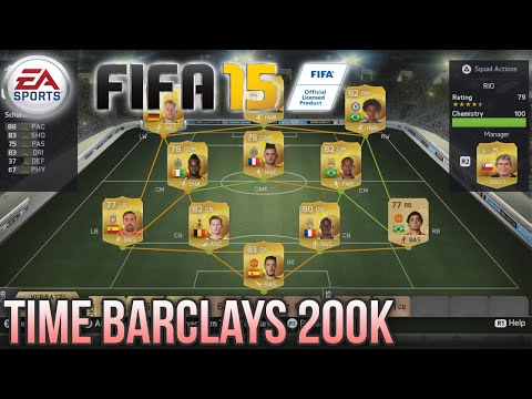 FIFA 15 UT: TIME DA BARCLAYS 200K - Testando na 5 Divisão!