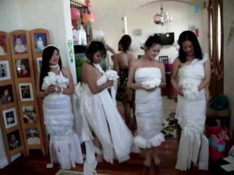 Toilet paper the brides dress kim 39 s bridal shower 3 17 Who gives the bridal shower for the bride