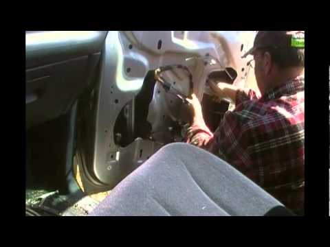 2002 Dodge Caravan power window motor and regulator replacement
