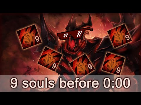 Shadow Fiend with 9 souls before 0:00 — how to