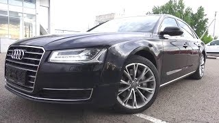 The Audi A8L a four door full size luxury sedan. Start Up, Engine, and In Depth Tour.