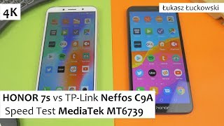 HONOR 7s vs TP-Link Neffos C9A  ❗❗❗ | Speed Test |  MediaTek MT6739