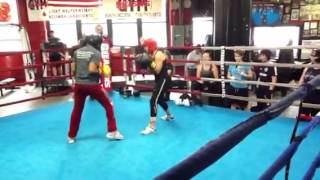 Gleason's female boxing clinic day 1 - YouTube