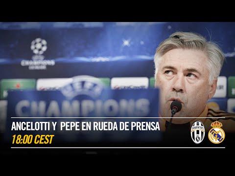 LIVE EN ESPAÑOL - La rueda de prensa de Ancelotti y Pepe pre Juventus-Real Madrid